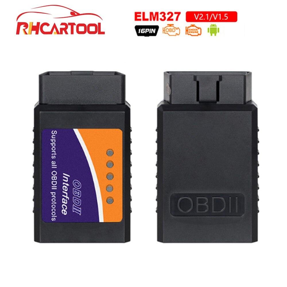OBD2 Code reader ELM327 Hardware V1.5 v2.1 Interface ELM 327 OBD2 OBD 2 Auto Diagnostic-tool Work On Android/PC Torque