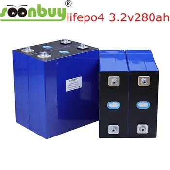 NEW 3.2v280ah lifepo4 rechargeable battery lithium iron phosphate solar cell 12v 24v no 280ah eu tax free usa fast ship