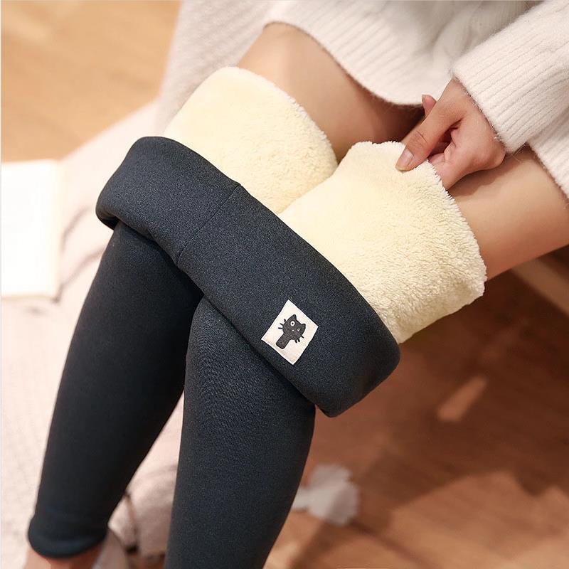 Женские теплые леггинсы с высокой талией, облегающие брюки, зимние бархатные плотные леггинсы, женские леггинсы, женские Стрейчевые брюки
