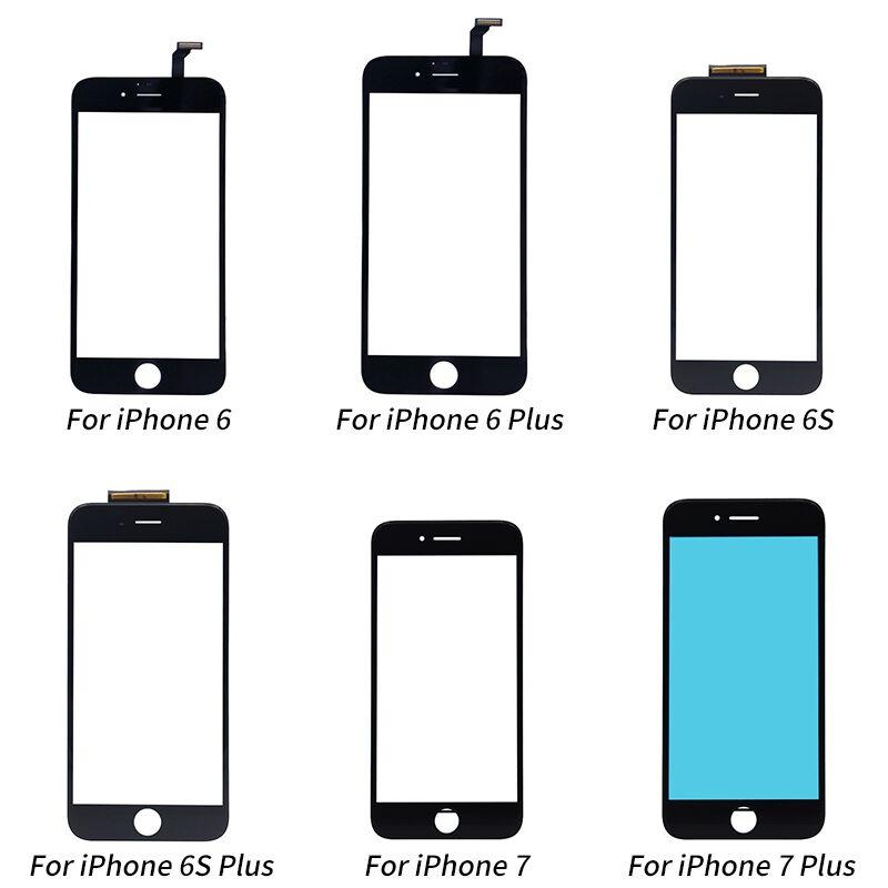 Panel de Digitalizador de pantalla táctil Netcosy para iphone 6 6Plus 6S pantalla táctil + soporte para iphone 7 7plus piezas de repuesto