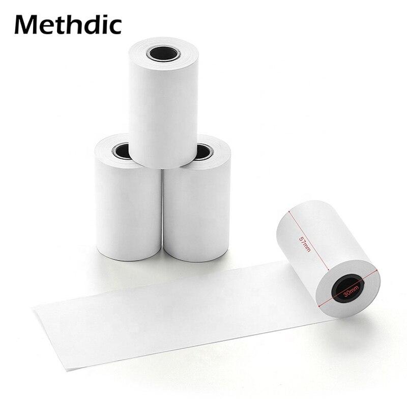 Метдическая BPA бесплатно 57*30 мм 10 рулонов термальных рулонов бумаги
