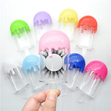 Plastic Portable Fake Eyelash Storage Box Clear Ice Cream Eyelash Packaging Case Lollipop Candy Color Lash Storage Container Box