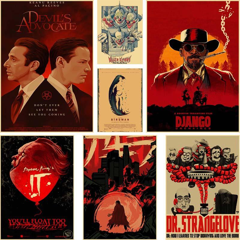 ВИНТАЖНЫЙ ПЛАКАТ из классического фильма Django unchaining/Interstellar ретро крафт-бумага плакаты домашний декор комната декоративный Рисунок для бара