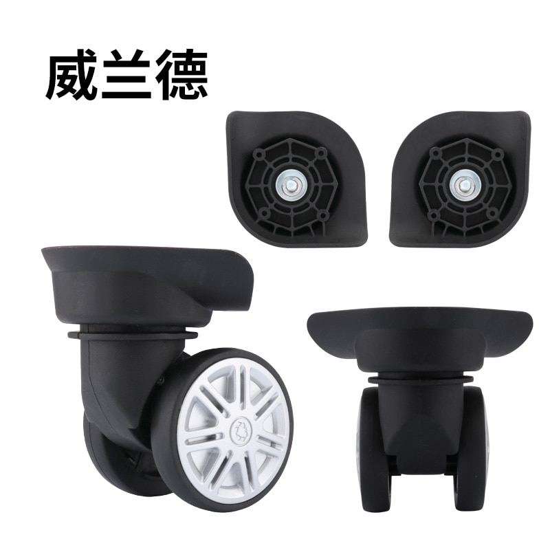 Hot-selling Wheel Accessories Repair Travel Luggage Mute Wear-resistant Wheels Black Caster Accessories A Pair of Boutique Wheel a group of 4 60mm 14159 mecanum wheel omni wheel robot 60 mm aluminum wheels