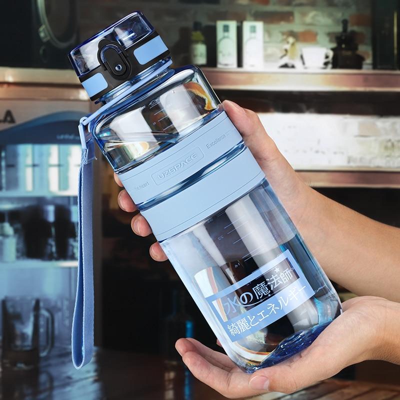 Botella de agua de vidrio deportiva para niños, botella de agua plegable para niños, Pajita decorativa para el hogar JJ60WB
