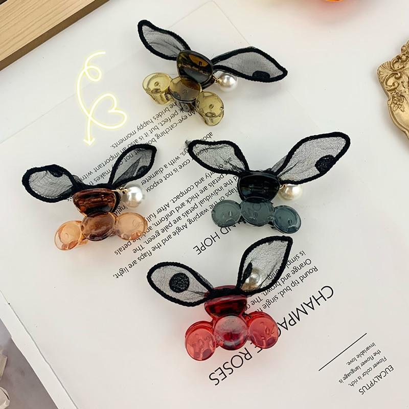 H:HYDE Cute Sweet Hair Clips Women Girls Hairpins Kawaii Bunny Rabbit Ear Hair Claws Barrettes For Kids Hair Accessories