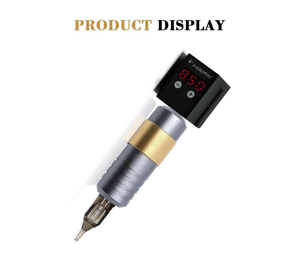 Máquina de lápiz para tatuaje giratorio con batería inalámbrica para tatuar, Kit de tatuajes y cartuchos de agujas para tatuaje de cejas PMU