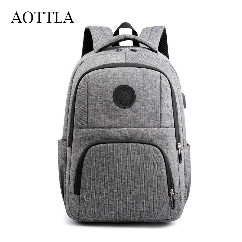AOTTLA Men's Backpack Shoulder Bags Oxford Cloth Student School Backpack Laptop For Teenager Backpacks High Quality Casual Packs