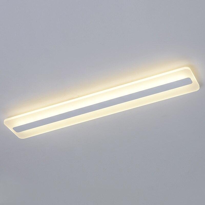 مصباح سقف Led مستطيل بتصميم بسيط ، تصميم حديث ، إضاءة داخلية ، مثالي للغرفة ، الشرفة ، الممر ، الردهة.