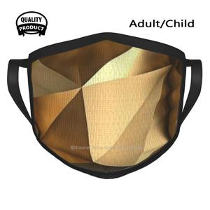 Glamour Designer Black Breathable Reusable Mouth Mask Gold Golden Brown Glamour Shine Shiny Unique Textured Pattern Interesting
