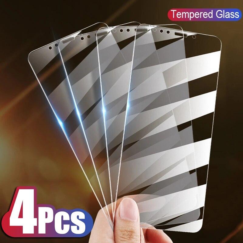 Protector de pantalla de cristal templado para iPhone cubierta completa de vidrio para iPhone 11 12 X XS X Max XR 7 8 6 Plus 5 SE
