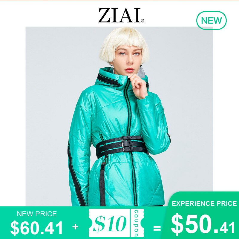 ZIAI Women's Spring Jackets 2021 Short ladies green fashion parkas female jacket Casual coat women High-Quality clothing ZM-8783