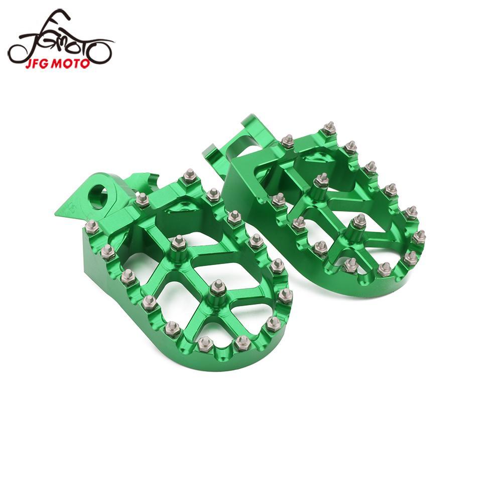 Motocicleta CNC Footpeg Footrest Pé Pegs Para KAWASAKI KX125 KX500 KX250 1997 1998 1999 2000 2001 1988 1989 1990 KX 125 250 500