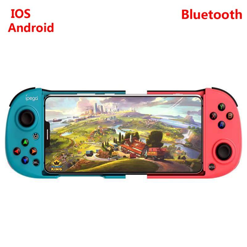 Беспроводной Телескопический игровой контроллер, совместимый с Bluetooth, беспроводной геймпад, джойстик для телефонов Android, IOS, с USB-кабелем