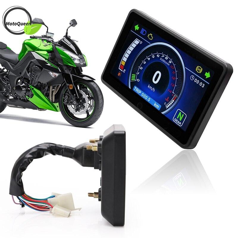 Freeship 1,2, 4 cilindros Universal motocicleta LCD pantalla clúster reemplazable velocímetro multifunción instrumento motocicleta