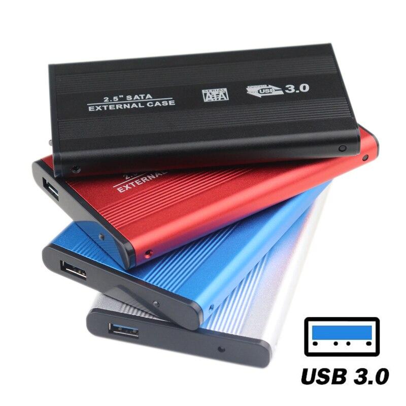 Carcasa de aluminio de 2,5 pulgadas SATA III a USB 3,0 5Gbps, carcasa de disco duro externo, soporte de caja SSD, enchufe caliente para Windows Mac