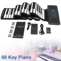 electronic organ 88 keys roll up rechargeable silicone flexible keyboard organ built in 2 speakers support midi