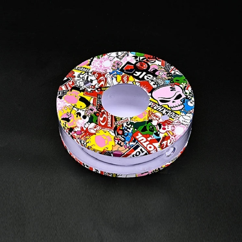7.87inch Round Travel Acrylic Hookah Set Portable Graffiti Conplete Shisha with Charcoal Holder Hose Bowl Sheesha Accessories enlarge