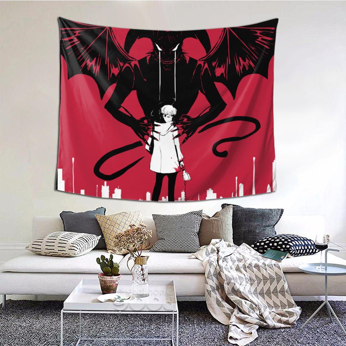 Devilman-نسيج حائط كريبيبي ، ديكور حائط بوليستر ، أكيرا ديفيل ريو ، أنيمي ، رعب ، مانغا ، ديكور منزلي