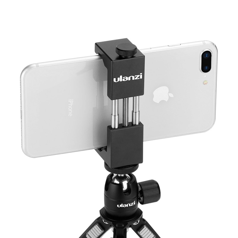 Ulanzi ST-01 Vertical Shooting Phone Tripod Mount Stand Adapter Vlog Tripod Mount for iPhone 12 Pro Max Samsung Huawei Xiaomi