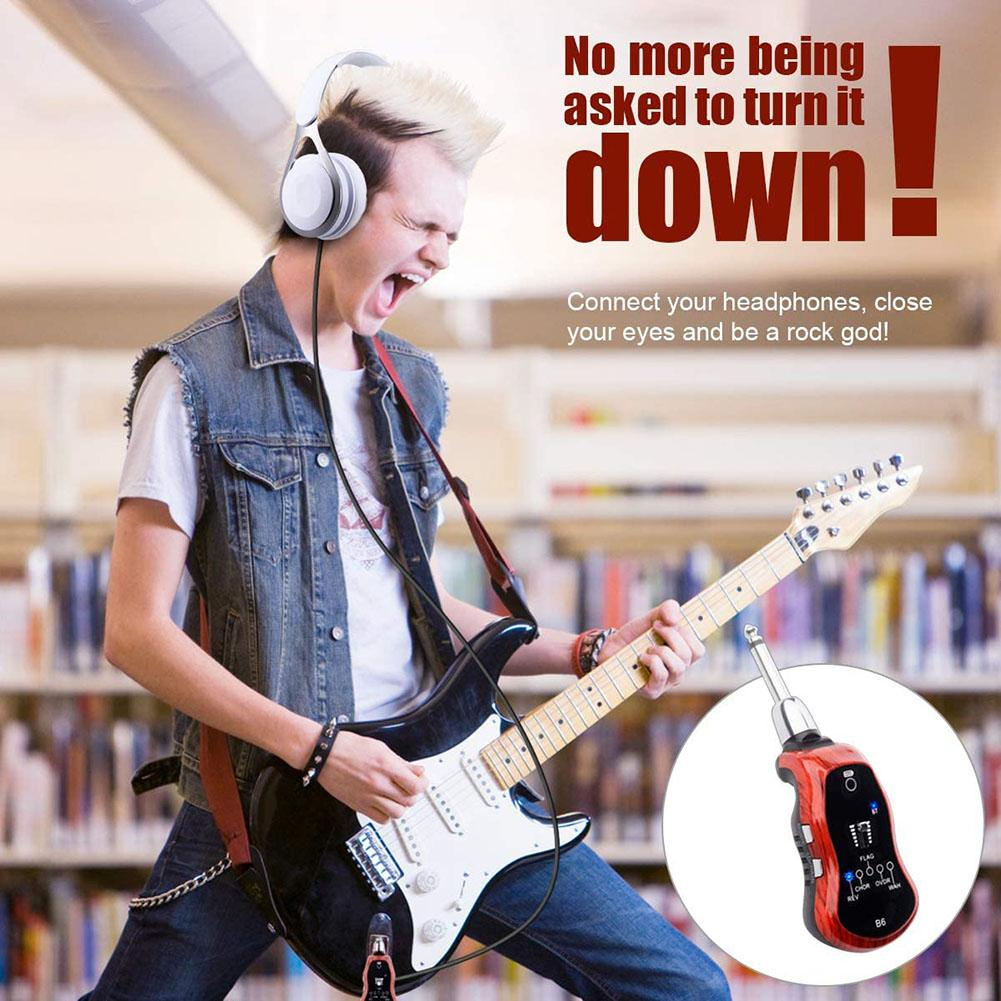 B6 Bluetooth Rechargeable Electric Guitar Earphone Bluetooth Receiver Mini Amplifier with 5 Effects for Electric Guitar enlarge