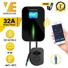 Chargeur EV EVSE Wallbox Wifi Station de recharge de véhicule électrique APP avec prise Type 2 32A 1Phase IEC 62196-2 pour Audi BMW