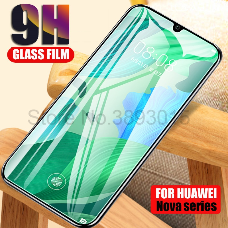 9H Protective Glass For Huawei nova 3 3e 3i 4 4e 5 5i 5T Screen Protector For Huawei P20 Pro P30 Lite Tempered Glass Film Case