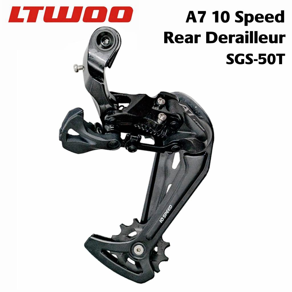 Desviador trasero LTWOO A7 de 10 velocidades para MTB, compatible con DEORE
