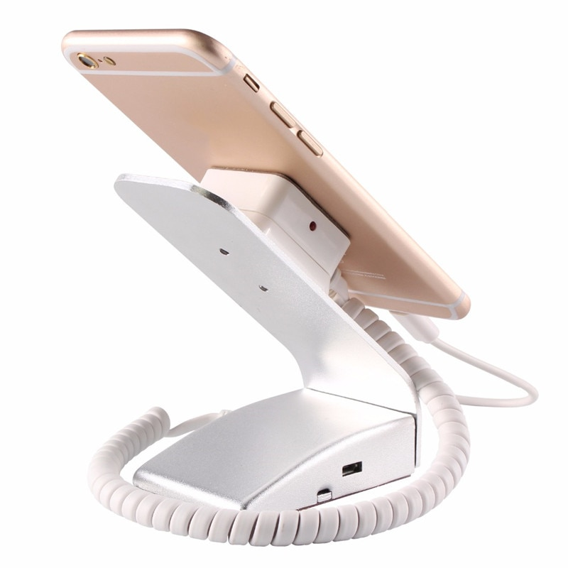(20 Pieces/Lot) Economical Type L-Shaped Aluminium Material Sliver Color Smart Phone Mobile Store Remote Alarm Charging Stand enlarge