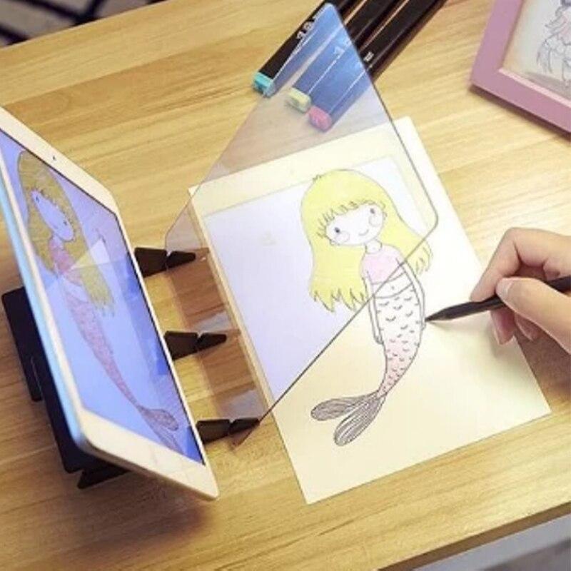 Tablero de dibujo de imagen óptica, reflector, cuadro de soporte de atenuación con imagen de espejo, placa JS23