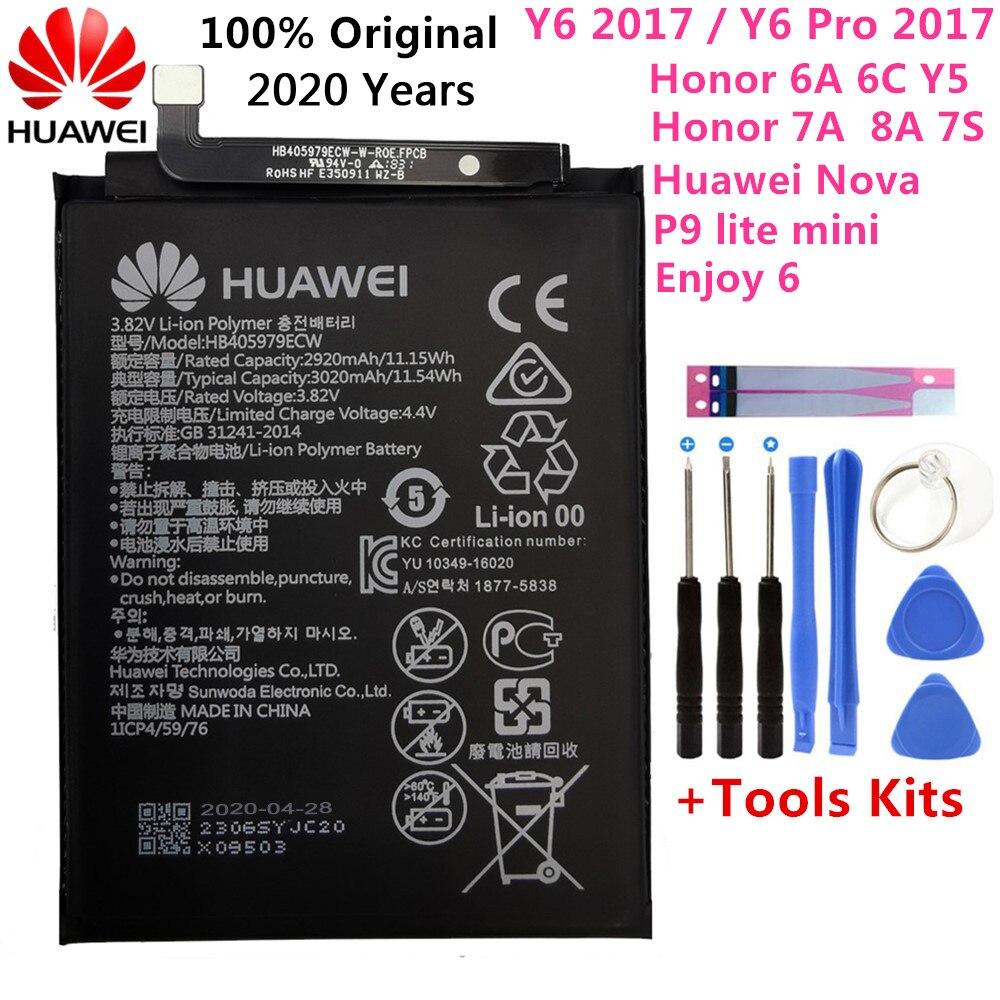 Оригинальный аккумулятор 3020 мАч HB405979ECW для Huawei honor 6A Honor 8A DLI-AL10 DLI-AL10B DLI-TL20 DLI-L22 LX1 L41 L29 AL00