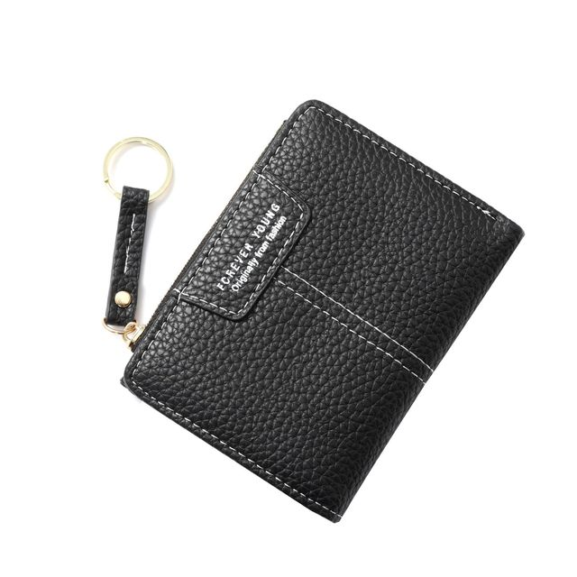 2021 New leather ladies purse 6 colors trend slim clutch purse zipper short money bag multifunction coin women's small wallet
