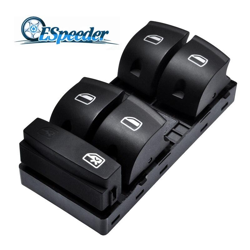 Botão Interruptor Da Janela de Energia Elétrica Controle Mestre Janela SPEEDWOW Painel Preto Para Audi Sportback A3 A6 C6 Sedan Q7 4F0959851