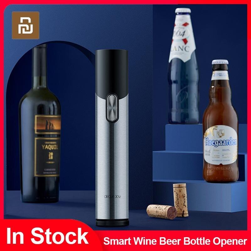 الأصلي Youpin البيرة المفتاح المحمولة الكهربائية زجاجة النبيذ فتاحة التلقائي المفتاح الأحمر النبيذ اكسسوارات المطبخ أدوات المنزل