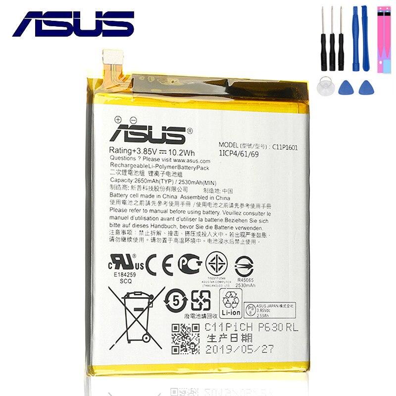 ASUS 100% Original 2650mAh Bateria Para ASUS ZENFONE C11P1601 3 ZENFONE3 ZE520KL Z017DA ZenFone ZB501KL A007 Telefone Móvel ao vivo