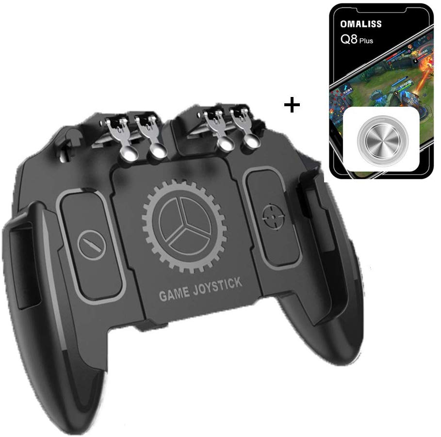 PUBG Mobile Controller Bundle with 1 Screen Joystick |e-Times 4 Triggers with L1 L2 Touch Screen Joypad Tablet for Various Games general mobile games joystick touch screen rocker controller