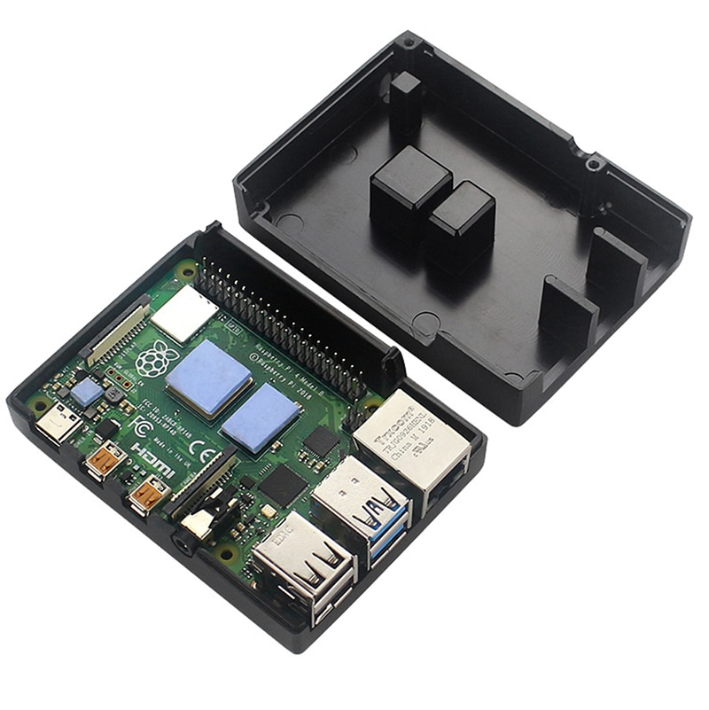 1Pc Metal Case Enclosure Cover Shell with Heat Sinks for Raspberry Pi 4B Pi 4 Model B aluminium case and ugeek aoide digi pro work with raspberry pi 4 model b 4b diy your hifi player build with raspberry pi