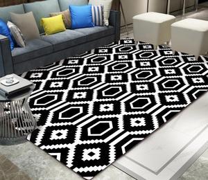 Geometric Style Rugs Living Room Vintage American Geometry Moroccan Ethnic Style Bedroom Door Living Room Mat Carpets