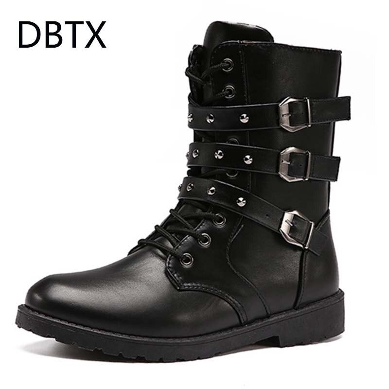 Botas altas de cuero de alta calidad para hombres, botas militares negras, botas tácticas, botas militares, botas de cuero para hombres, zapatos de hombre 664