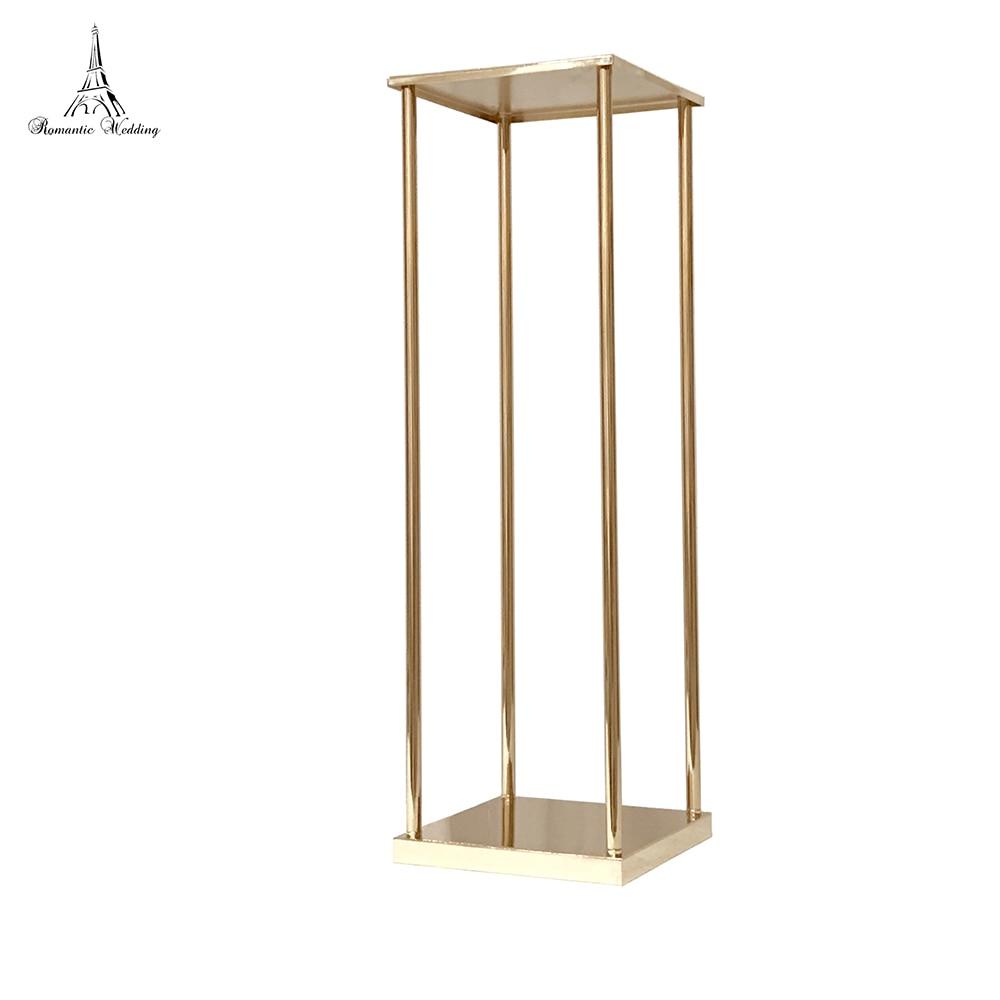 Wedding Metal Gold Color Flower Vase Column Stand for Wedding Centerpiece Decoration