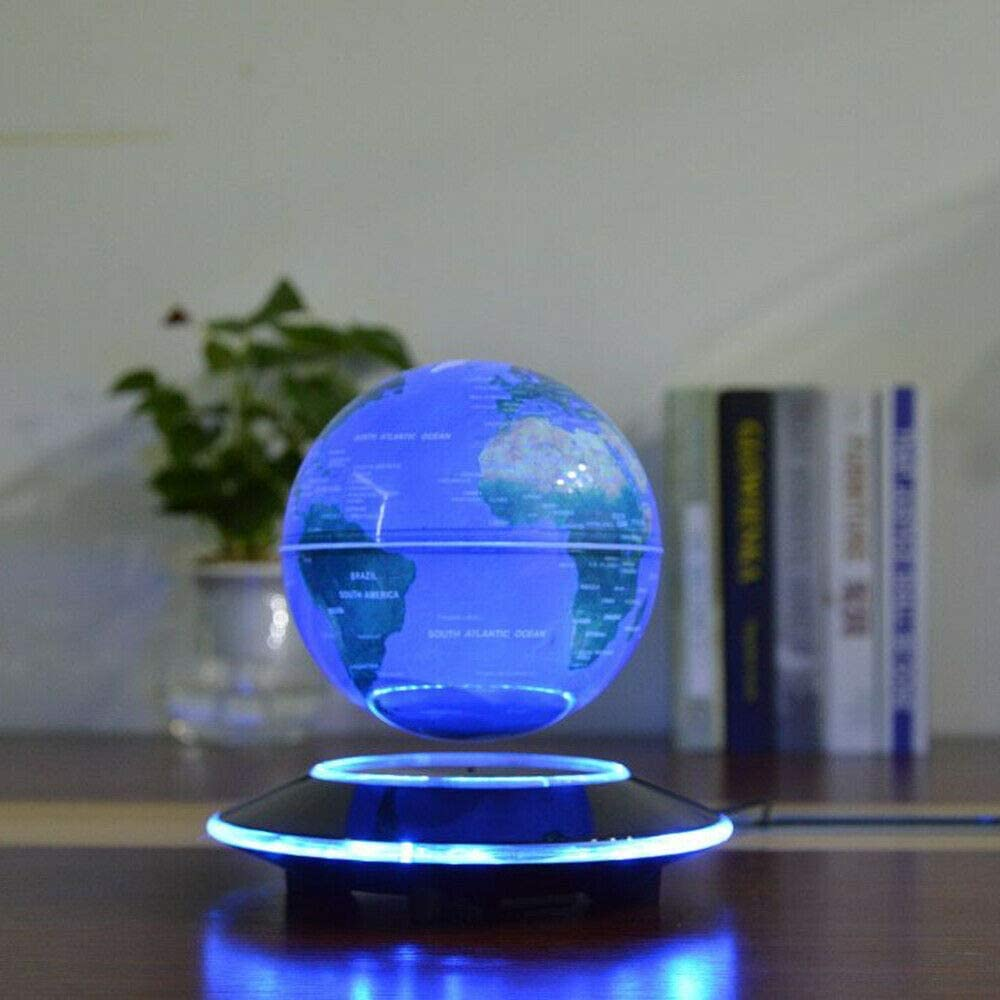 Led Night Magnetic Levitation Floating Earth Globe With C Shape Base Led World Map Ball Lamp Terrestrial Globe Novelty Lamp enlarge