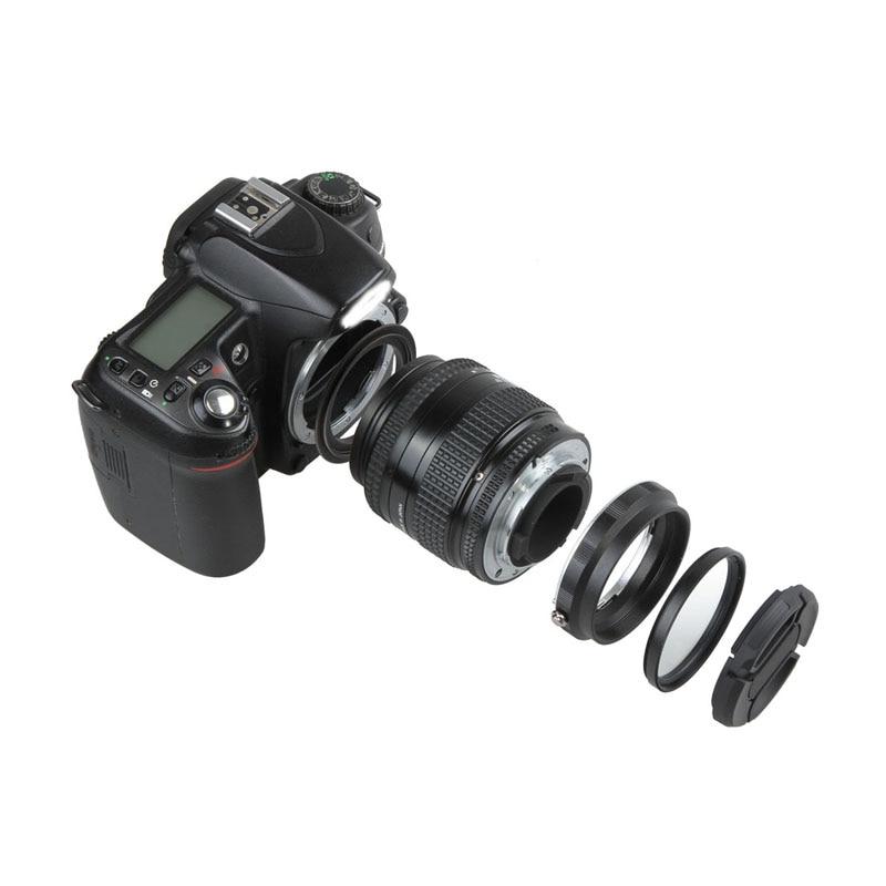 Macro Camera Lens Reverse Adapter Protection Set for Nikon D80 D90 D3300 D3400 D5100 D5200 D5300 D5500 D7000 D7100 D7200 D5 D610