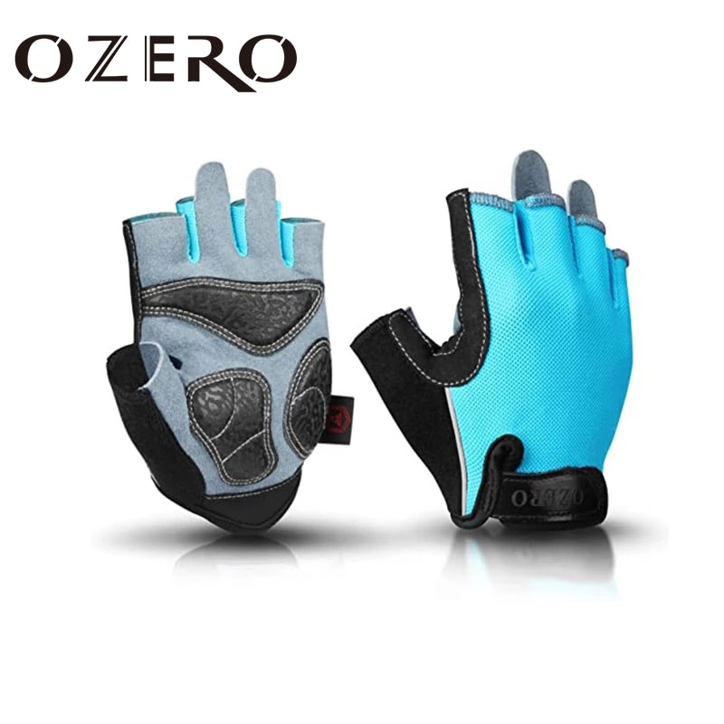 gloves men mountain bicycle gloves 3d gel pad bright green sport gloves with reflective half finger mtb bike gloves cycling OZERO Unisex Cycling Half-Finger Gloves Gel Pad Shock-Absorbing  Summer Bicycle Gym Fitness Gloves MTB Bike Glove