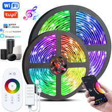 Led Strip lights Alexa Wifi Voice Control Tuya Smart Lamp 12V Rgb 5050 NO Waterdicht Luz Flexibele Luces Voor Thuis tira Fe