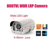 Livraison gratuite 800TVL sony effio-v étanche voiture véhicule plaque dimmatriculation reconnaissance numéro WDR LPR caméra 5 ~ 50mm lumière blanche LED