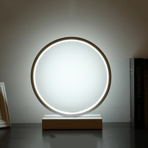 Modern LED Table Lamp Aluminum Bedroom Reading Light Eye Protective Night Light Minimalist Circle Desk Lamp LED Bedside Lamp