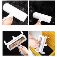2 way pet hair remover roller brush sofa carpet sweater plush cleaning brush clothes lint remover fabric shaver