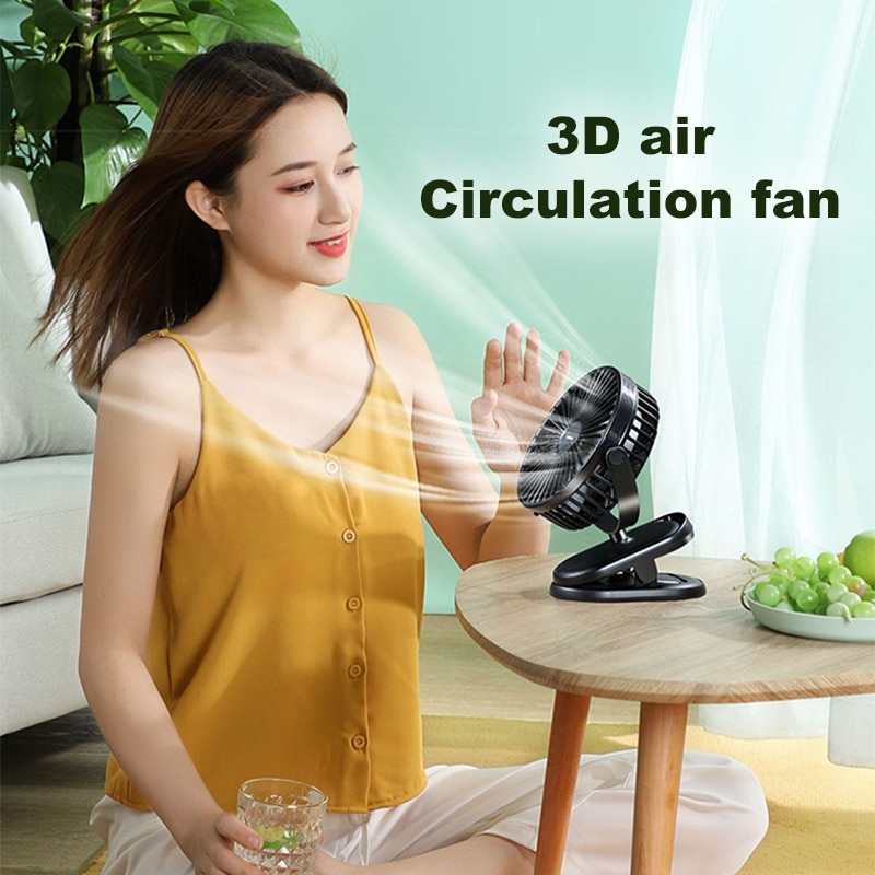 Dropshipping agent Wholesale Logistics China Freight Rotation Mini 3 Gears Wind Speed Rechargeable Usb Portable Fan Clip On