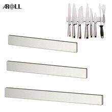 Power 304 Stainless Steel Magnetic Knife Holder Wall Mount Kitchen Magnet Magnetic Knife Holder Bar Rack for Knives Organizer