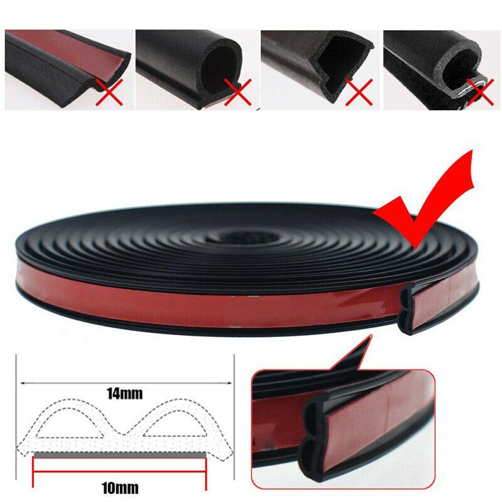5M B-coche puerta Hood maletero borde moldeado de goma burlete tira del sello de con cinta de doble cara